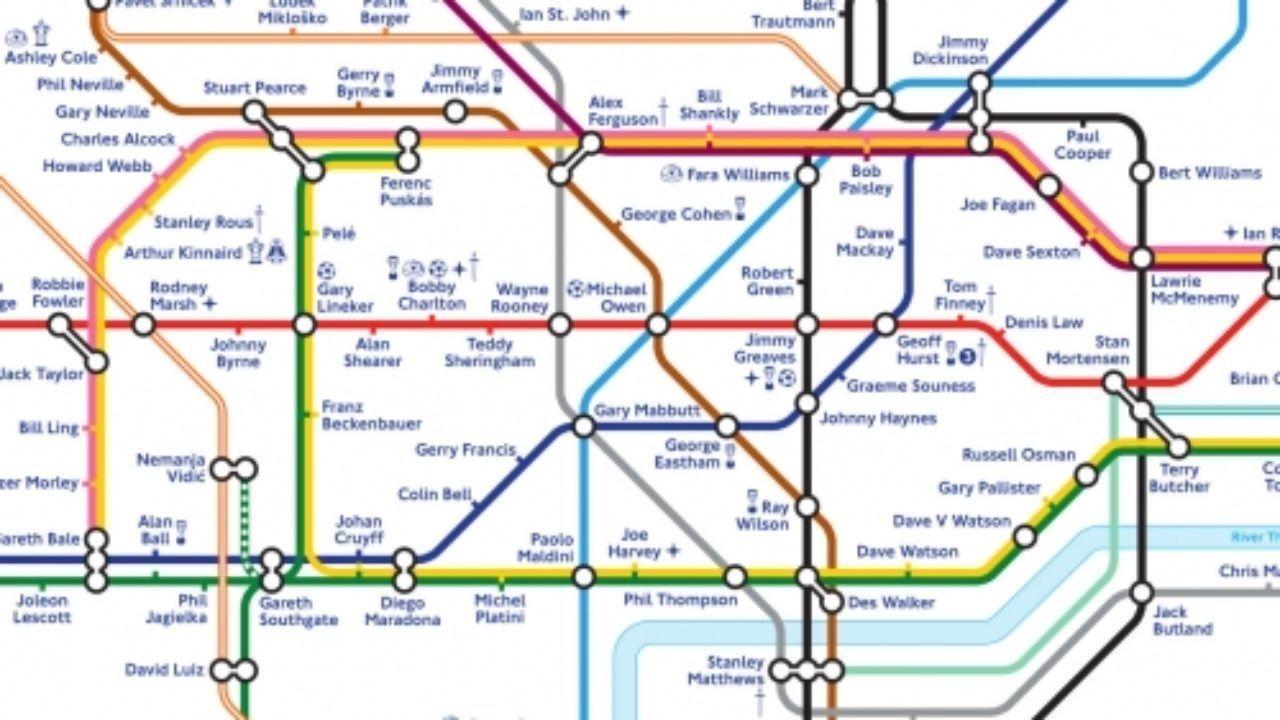 Cartina Metro Londra Con Monumenti.The Tube La Metropolitana Di Londra